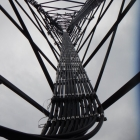 Cable in Interior of Cell Tower
